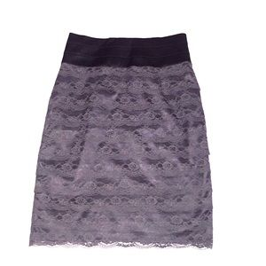H&M Skirts - High waisted lace pencil skirt